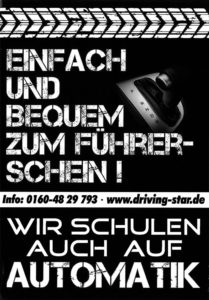 Flyer Automatik Führerschein
