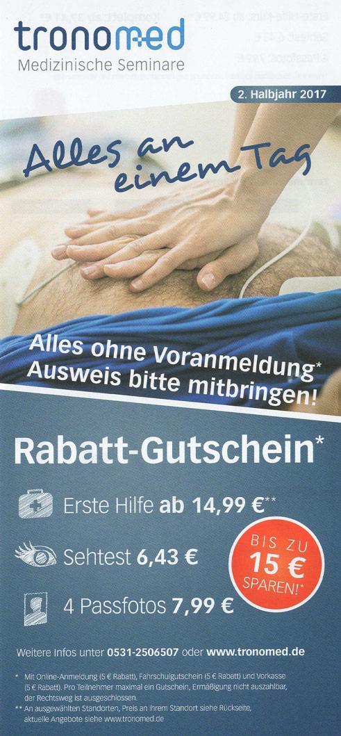 Prospekt zum Thema Erste Hilfe